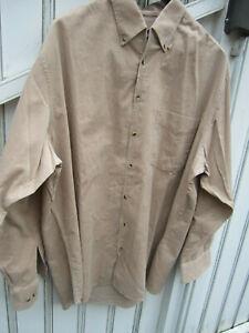 Männer Hemd beige aus Cord Walbusch Trelegant gr. 41/42