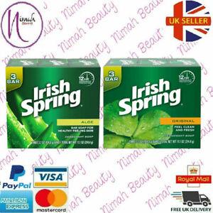 Irish Spring Deodorant Soap Bar Original, Aloe, 3.7oz Soaps Bar