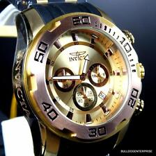 Mens Invicta Pro Diver Scuba II 50mm Chronograph Gold and Rose Tone Watch New