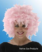 Chandelle Feathered Wig  Halloween Costume Punk Retro LIGHT PINK New
