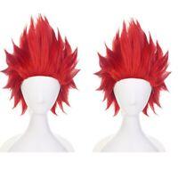 My Hero Academia Boku no Hero Kirishima Eijiro Red Short Hair Cosplay Fancy Wig