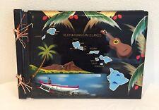 Vintage Hand painted Hawaiian Photo Album Scrap Book Made in Japan