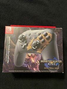 Nintendo Switch Pro Controller Monster Hunter Rise Edition -  FREE SHIPPING