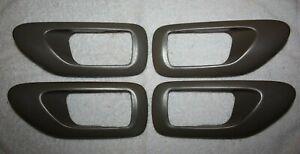 1995-1999 Toyota Avalon Front Rear RH LH Door Handle Trim Bezel Set of 4 Taupe