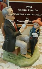 "1980 ANNUAL FIGURINE NORMAN ROCKWELL'S  ""DOCTOR and THE DOLL""    Certificate/Box"