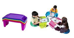 1/5 Student Kids Lap Desk Plastic Lap Tray Assorted ColorsGift Learning Storage