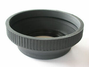 SCREW ON 49MM PROFESSIONAL RUBBER COLLAPSIBLE LENS HOOD FOR SLR LENSES QUALITY