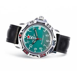 Vostok Komandirskie 811307 Russische Uhr Leder Armband mit Handaufzug Kal 2414A