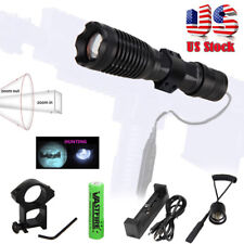 940nm 10W Zoom Focus IR Infrared LED Torch Light Tactical Mount Flashlight 18650