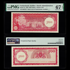 [PMG] Netherlands Antilles 500 Gulden, 1962, P-7a, 003322, EPQ 67, UNC