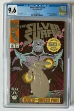 Silver Surfer #50 CGC 9.6 White Pages Marvel 1991 Thanos Embossed Foil Cover 005