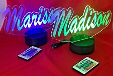 Light Up Lamp Name Shape Light Lamp LED With Remote Personalized Night Any Name