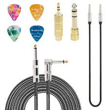 Cable de amplificador para guitarra eléctrica Cable acústico de 20 pies 4 púas