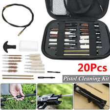 20Pcs Pistol Cleaning Kit Carrying Case Universal 22 357 38 40 45 9mm Hand Guns