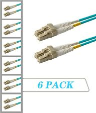 6-Pack 2 Meter 100G 40G Multimode OM4 Duplex LC to LC Fiber Patch Cable