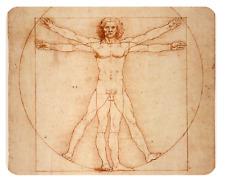 Mousepad Leonardo da Vinci Mensch 24x19 Anatomie Medizin Mauspad Unterlage