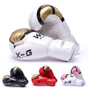 Guantes de boxeo para entrenamiento de Muay Thai guantes sin dedos para hombres mujeres y ni/ños