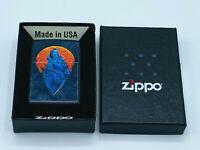 ZIPPO Wolf 3D-Color Image schwarz matt Feuerzeug Kollektion 2021 - 60005571