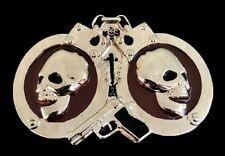 Handcuffs Skulls Belt Buckles Police Hancuff Skull Skeleton Boucle de Ceinture