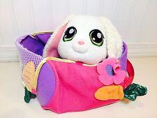 Littlest Pet Shop VIP White Plush Easter Bunny Rabbit Basket Carry Bag 50675