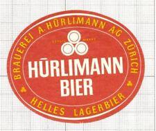 SWITZERLAND Brauerei A.Hurliman,Zurich Helles Lager (4) beer label C1654