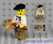 LEGO Series 4 - Artist Minifigure Painter Brush Pallet 8804 Collectible Minifig