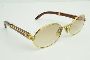 Authentic Cartier Sunglasses Sully 51 20 135b Bubinga Wood GP Louis Glasses