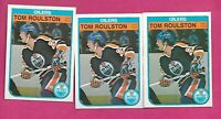 3 X 1982-83 OPC # 118 OILERS TOM ROULSTON ROOKIE NRMT+ CARD (INV# C2571)