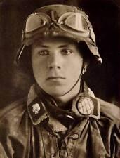 WWII Photo German Soldier Photo WW2 B&W World War Two Wehrmacht Totenkopf / 2171