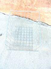 "galvanized metal wire basket slanted front 12-1/2"" X 10-3/4"" market display"