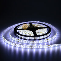 5M Cool White 3528 SMD 300 LEDs LED Strip 12V 24W  IP65 Waterproof Flexible