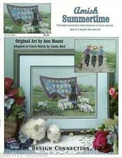 Amish Summertime Scene Linda Bird Design Connection #98 Cross Stitch Pattern NEW