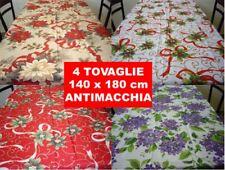 4 Tovaglie di Natale 140x180 cm tovaglia Natalizia Antimacchia 4PZ BLACK FRIDAY