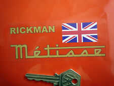 RICKMAN METISSE Classic Motorcycle STICKERS Printed on Clear Union Jack Bike