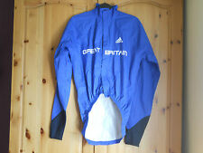 Adidas TEAM GB 2012 cycling rain coat jacket XS X-SMALL waterproof bike cape