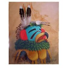 Navajo canvas painting HOPI EAGLE DANCER 30x24 by world renownd Jimmy Yellowhair