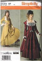Victorian Style Steampunk Dress Coat Bustier Skirt Sewing Pattern Size 6 8 10 12