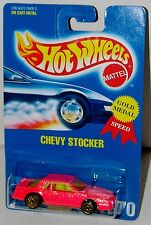 Hot Wheels Chevy Stocker UH Gold Wheels Blue Card Collector #270 Malaysia 1992