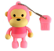 Usb 2.0 Flash Drive Memory Stick 4 Gb Usb Monkey Rosa Windows Mac Linux