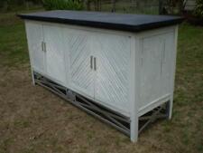 Bali Beach Bamboo Dinning Dresser 2 Draw 4 Doors metal handles & feature base