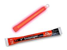 12 Hour 15.2cm SnapLight (15cm) Rojo BARRAS CON LUZ (Cyalume MARCA ) luminosa