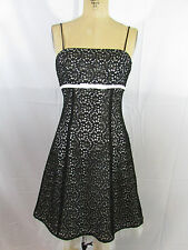 BETSY AND ADAM Black/White Spaghetti Strap Cocktail/Party Dress-Size 4