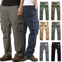 Men's Long Camo Military Army Cargo Combat Pants Trousers Casual Tactical Pants