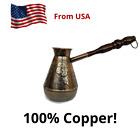 CEZVE Turkish Armenian COFFEE POT MAKER CEZVE IBRIK Jezve Turka Copper 380 ml