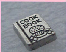 Cookbook Floating Charm-Cook-Baker-Glass Memory Locket