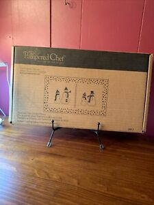 Pampered Chef Snowmen Dots Divided Platter New In Box