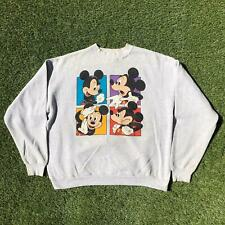 Vintage 90s DISNEY DESIGNS Mickey Mouse Grey Sweatshirt Large L