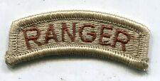 US Army Ranger DCU Desert Tan Tab Patch