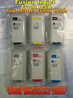 6 Cartridge fits HP 727 hp Designjet t930 t1500 t2500 t920 t1530 t2530 tank rter