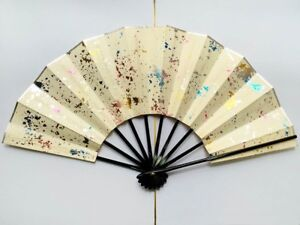Vintage Japanese Geisha Odori 'Maiogi' Folding Dance Fan from Kyoto: Design E
